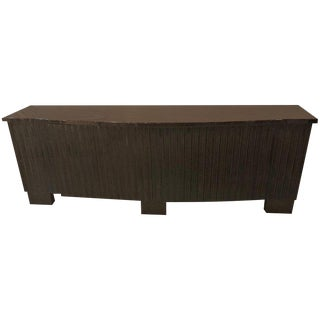 Palatial Pace Collection Wavy Front Mahogany Lacquered Credenza or Sideboard For Sale