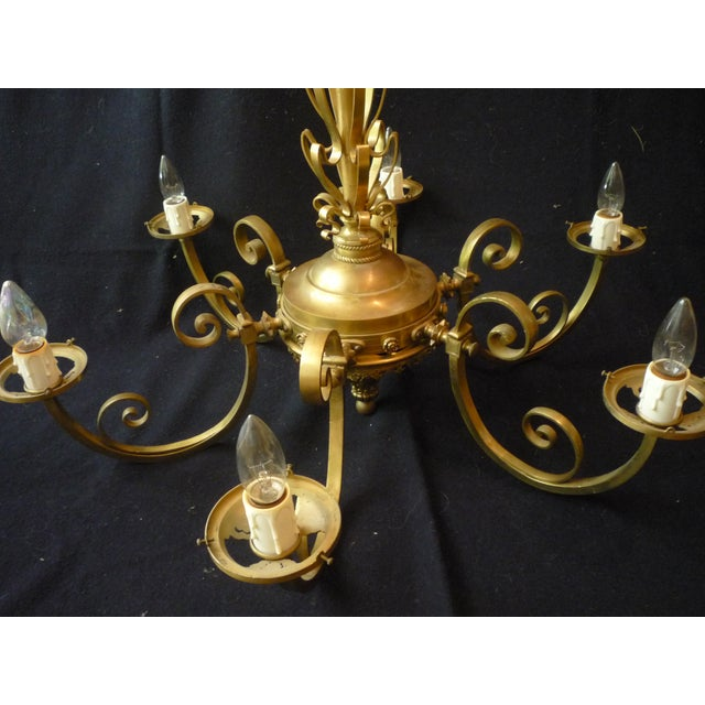 Antique French Country Chandelier - Image 3 of 10