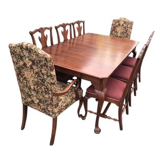 1990s Traditional Bob Timberlake for Lexington Solid Cherry Dining Set - 9 Pieces For Sale