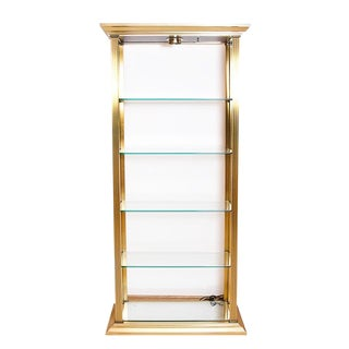 Neoclassical Brass and Glass Etagere For Sale