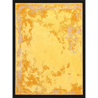 """Framed Original Yellow Artwork """"A 264"""" Contemporary Minimalist Acrylic Painting by Marco Schmidli For Sale"""