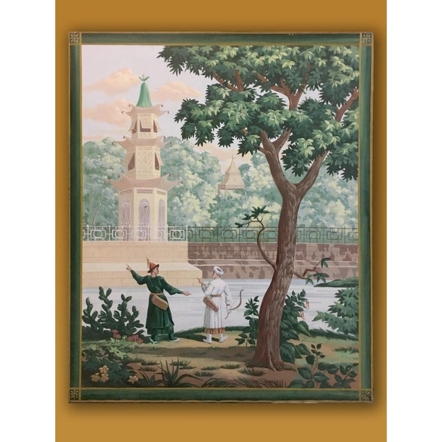 Vintage French Scenic on Canvas Panel | Chairish