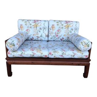 Vintage Chinoiserie Loveseat For Sale