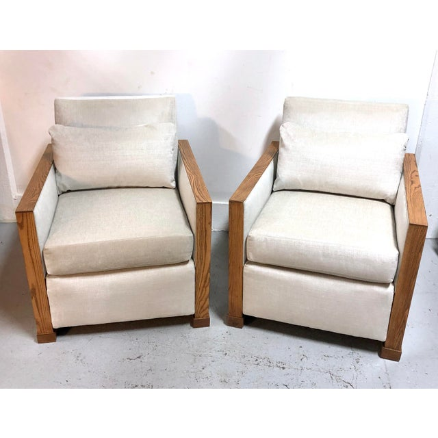Stunning Ralph Lauren Club Chairs by Henredon—a Pair For Sale - Image 12 of 13