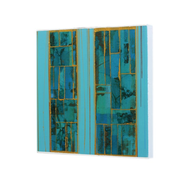 """""""Elements No. 8"""" Original Abstract Mixed Media Painting by Alexander Eulert For Sale In Los Angeles - Image 6 of 10"""
