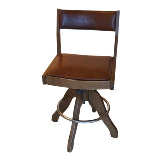 Vintage Industrial Wooden Bar Counter Stool
