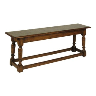 Baroque English Oak Bench For Sale