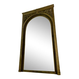 Extra Large Antique Gilt Full Length Mirror For Sale