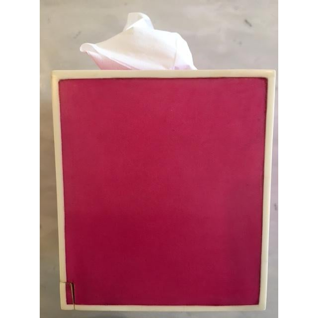 Pink Parchment Tissue Box - Image 2 of 3