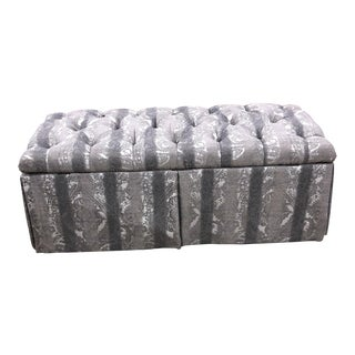 Modern Fairfield Chair Storage Upholstered Bench For Sale