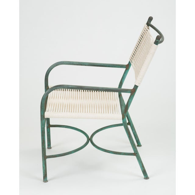 Metal Robert Lewis Bronze Patio Lounge Chair For Sale - Image 7 of 13
