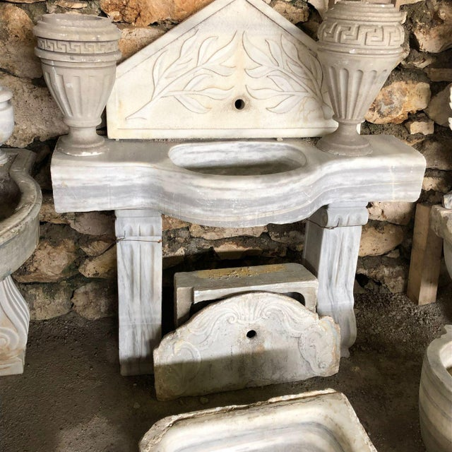 18th Century Marble Sink and Legs For Sale - Image 12 of 12