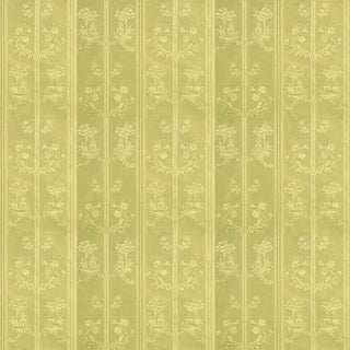 Suzanne Tucker Home Pagoda Silk Fabric in Citrine For Sale