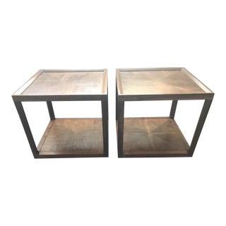 Drexel Mid-Century Walnut Side Tables - a Pair