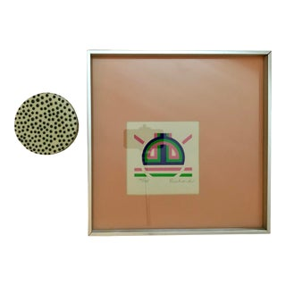 Vintage Mid-Century Turner Wall Accessory Signed and Numbered Print For Sale
