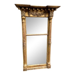 Early 19th C. Gilt Wall Mirror For Sale
