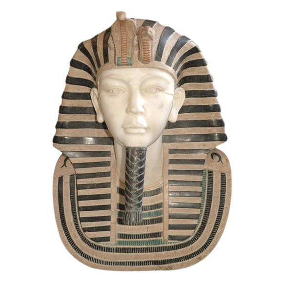 Marble Bust of Egyptian Pharaoh - Image 1 of 8