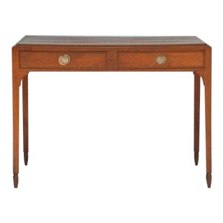 Chic Sandblasted Oak Desk or Writing Table in the Style of Jean-Michel Frank For Sale