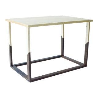 Modern Angle Frame Hardwood Coffee Table For Sale