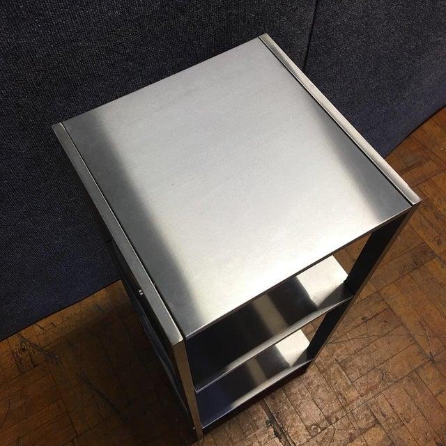 Sleek Silver Metal Shelf - Image 6 of 8