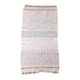 Vintage Pink Rag Rug For Sale