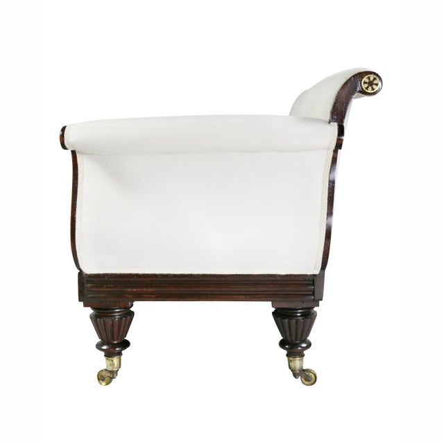 Regency Rosewood and Brass Inlaid Settee Sofa For Sale - Image 9 of 11