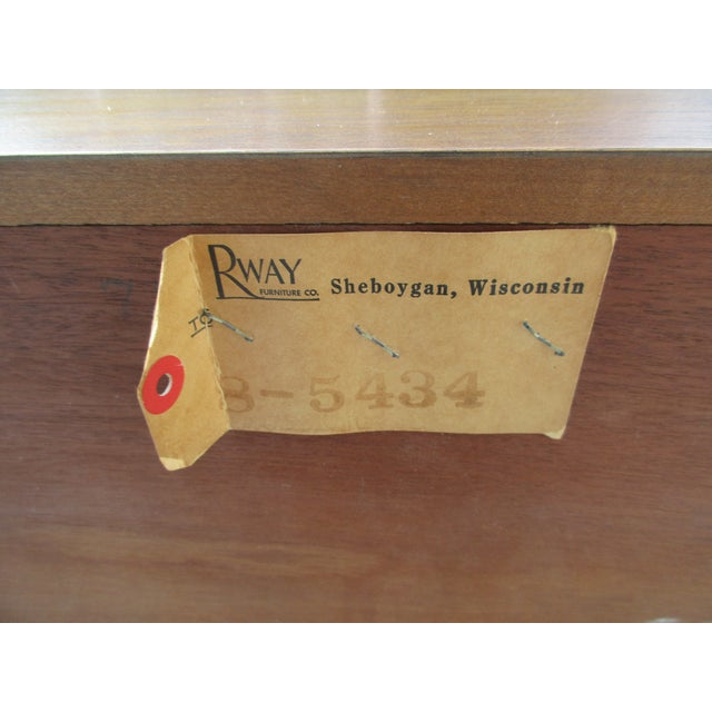 Mid-Century Modern Rway Tall Chest of Drawers -Custom Made For Sale - Image 12 of 13