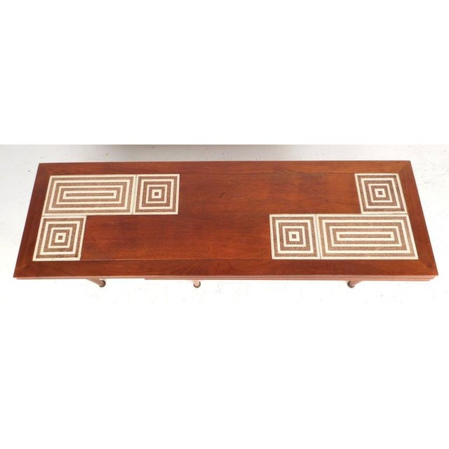 1970s Mid-Century Modern Tile-Tip Pivot Coffee Table For Sale - Image 5 of 11