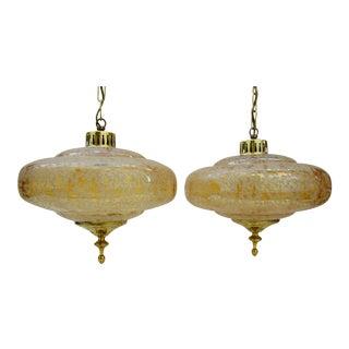 Mid-Century Scandinavian Pendant Lamps - a Pair For Sale
