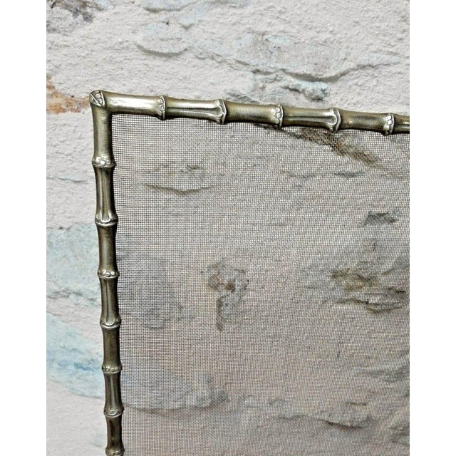 1940s French Art Deco Maison Bagues Bronze Fireplace Screen - Bamboo For Sale In Miami - Image 6 of 11