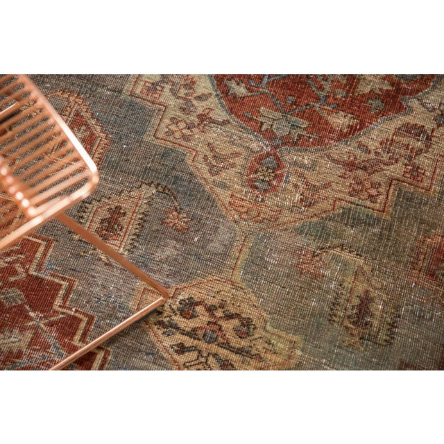 """Vintage Distressed Northwest Persian Rug - 4'3"""" X 6'3"""" For Sale - Image 10 of 13"""