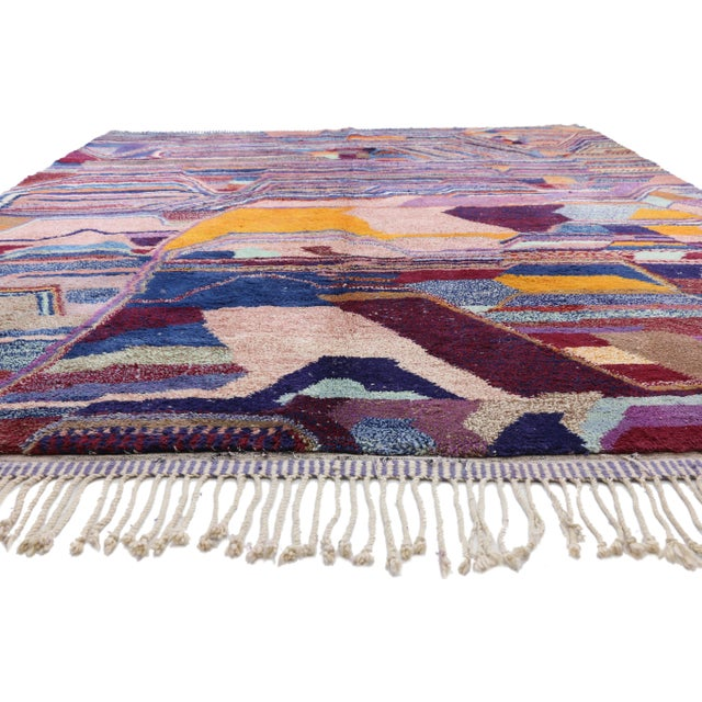 Contemporary Berber Moroccan Postmodern Memphis Style Rug - 8′10″ × 12′11″ For Sale - Image 4 of 8