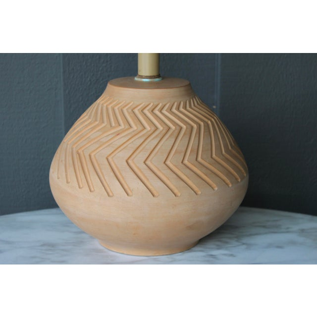 Native American Art Pottery Lamp - Image 7 of 11
