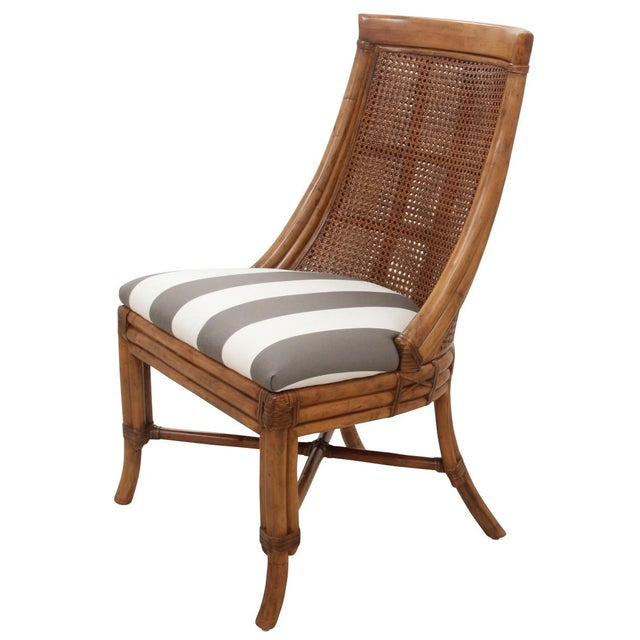English Traditional Bamboo Dining Chairs - Set of 8 For Sale - Image 3 of 9