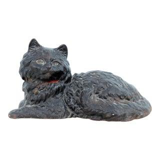 Mint Condition Hubley Cast Iron Cat Doorstop For Sale