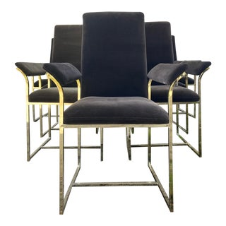 Milo Baughman Style Dining Chairs - Set of 8 For Sale