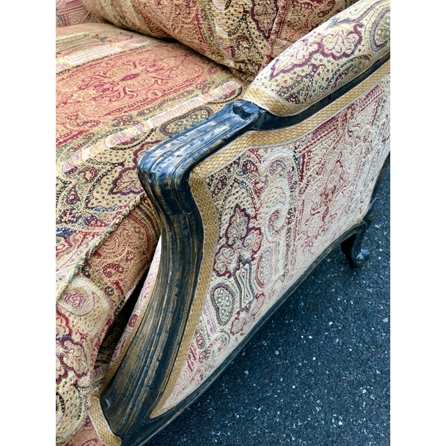 Vintage French Bergere Chair With Paisley Upholstery For Sale In New York - Image 6 of 13