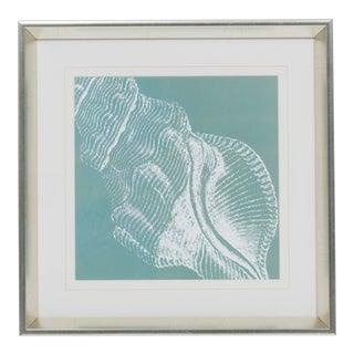 White Framed Shell Print