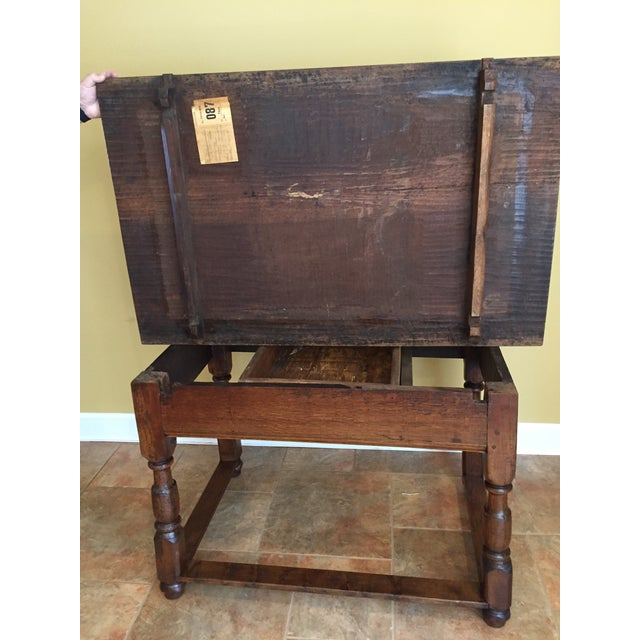 Brown Antique Hand Hewn Mahogany Table For Sale - Image 8 of 12