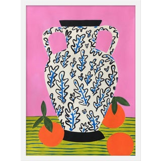 "Medium ""Vase With Oranges "" Print by Jelly Chen, 19"" X 25"" For Sale"