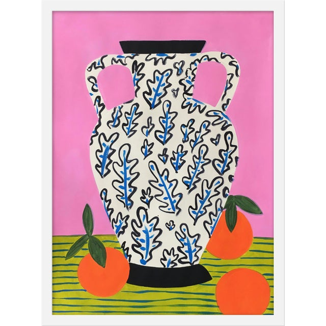 """Medium """"Vase With Oranges """" Print by Jelly Chen, 19"""" X 25"""" For Sale"""
