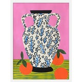 """Image of Vase With Oranges Print by Jelly Chen, 19"""" X 25"""" For Sale"""