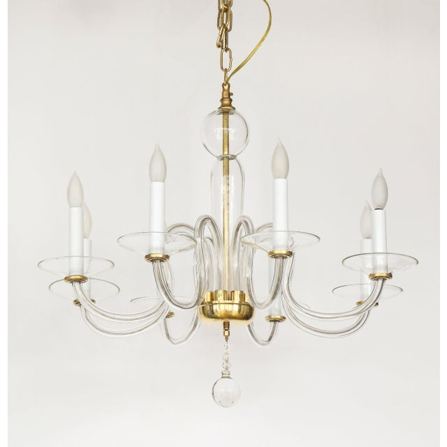 1960s Murano Glass Eight Arm Chandelier For Sale - Image 11 of 11