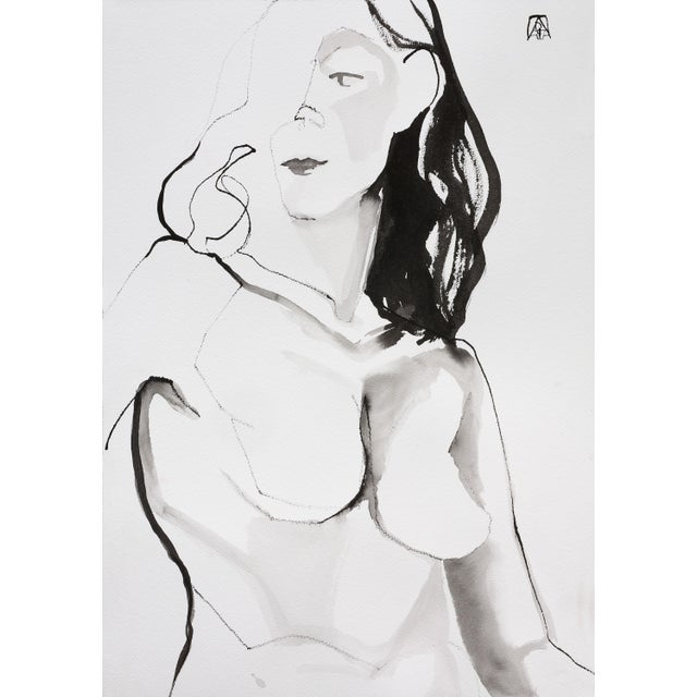 Unspoken, Ink Drawing by Adria Becker For Sale - Image 4 of 4
