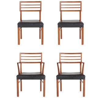 1960s Robsjohn-Gibbings Style Mid-Century Modern Teak Chairs - Set of 4 For Sale