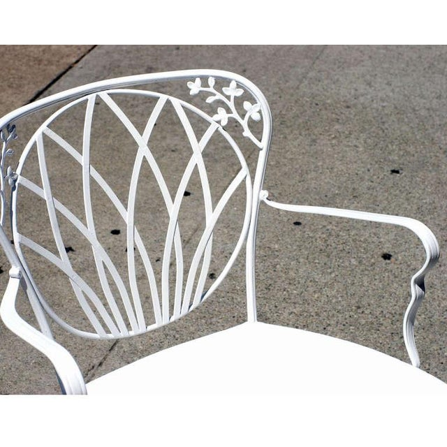 1960s 1960s Art Nouveau Inspired Woodard Outdoor Patio Armchairs - Set of 4 For Sale - Image 5 of 6