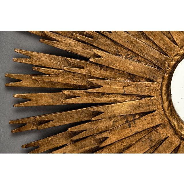 Vintage Spanish Sunburst Mirror For Sale - Image 4 of 10