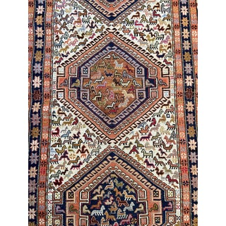 Tribal Shiraz Sumak Runner 14' by 2.5'. For Sale