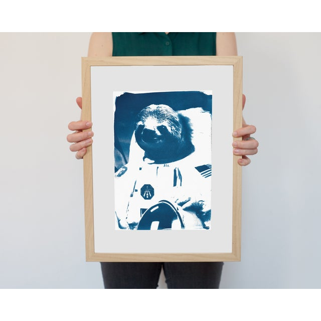 Limited Edition Cyanotype Print- Astronaut Sloth Meme - Image 2 of 4