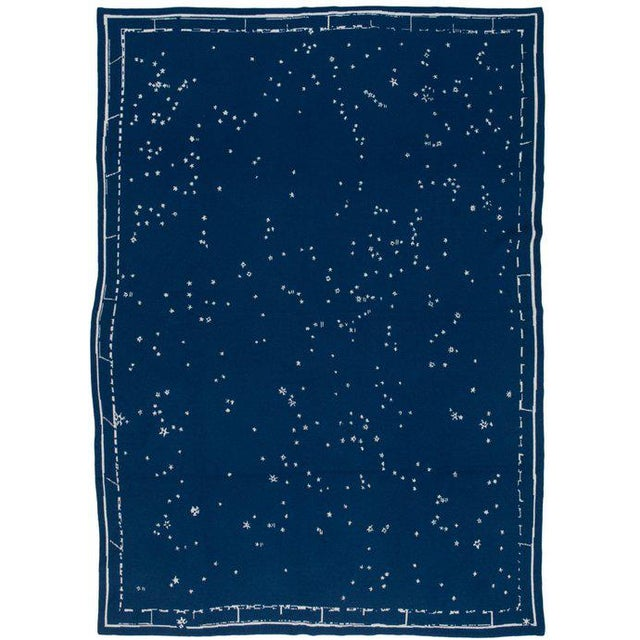 """Not Yet Made - Made To Order Constellation Cashmere Blanket, Midnight, 51"""" x 71"""" For Sale - Image 5 of 5"""